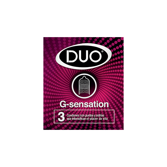 Condón Duo G-Sensation.