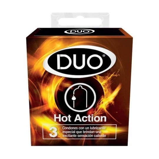 Condón Duo Hot-Action.
