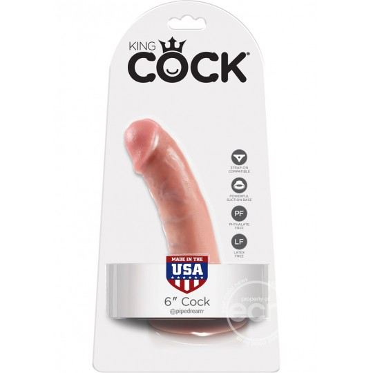 "Consolador Realistico con Succion King Cock 6"" Color Piel"