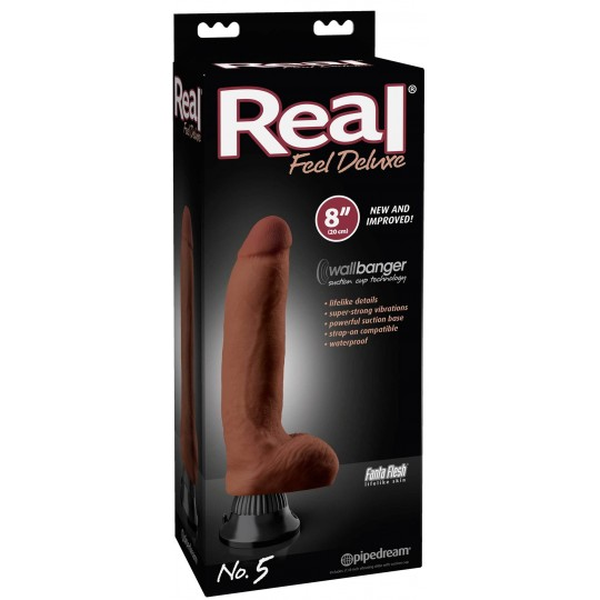 Vibrador Real Feel N° 5 Deluxe Bronce.
