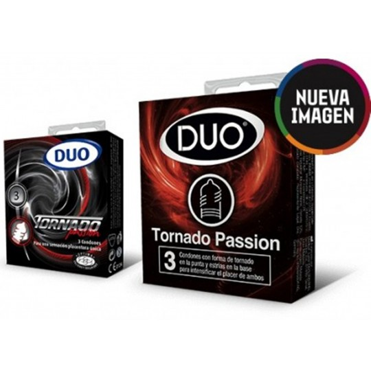 Condón Duo Tornado Passion.